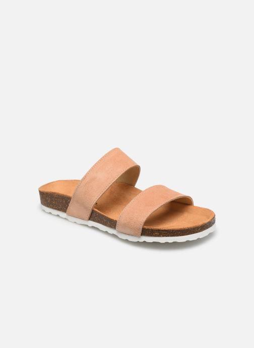 Zuecos Bianco BIABETRICIA Twin Strap Sandal Naranja vista de detalle / par