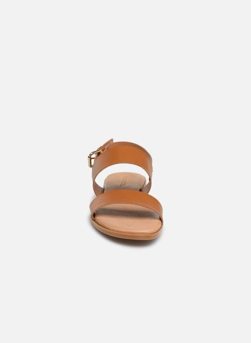 Sandales et nu-pieds Bianco BIABROOKE Basic Leather Sandal Marron vue portées chaussures