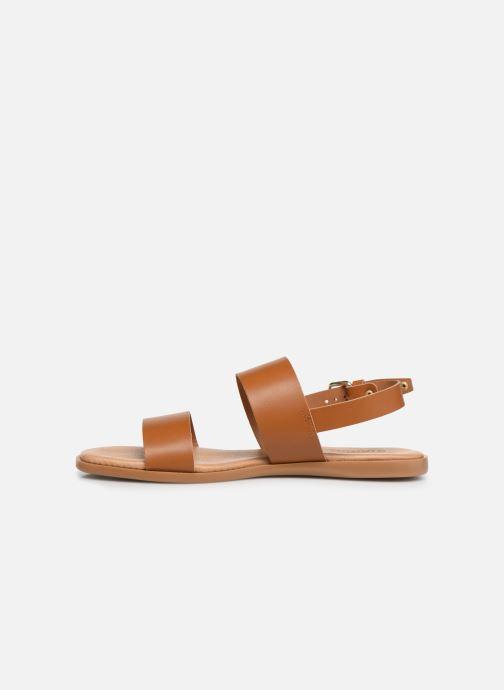 Sandales et nu-pieds Bianco BIABROOKE Basic Leather Sandal Marron vue face