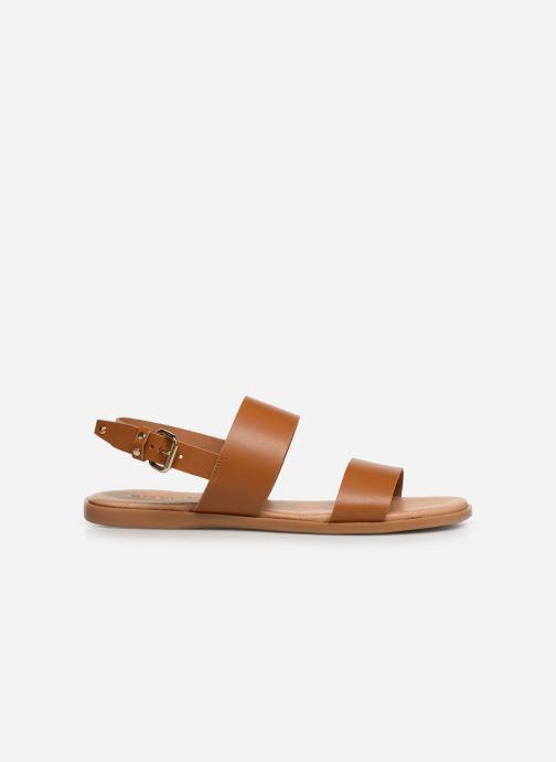 Sandales et nu-pieds Bianco BIABROOKE Basic Leather Sandal Marron vue derrière