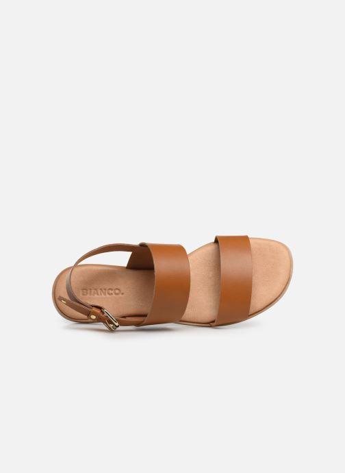 Sandales et nu-pieds Bianco BIABROOKE Basic Leather Sandal Marron vue gauche