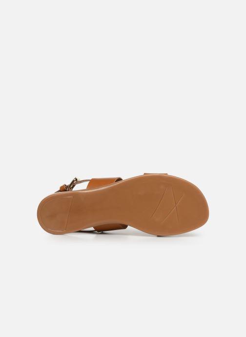 Sandales et nu-pieds Bianco BIABROOKE Basic Leather Sandal Marron vue haut