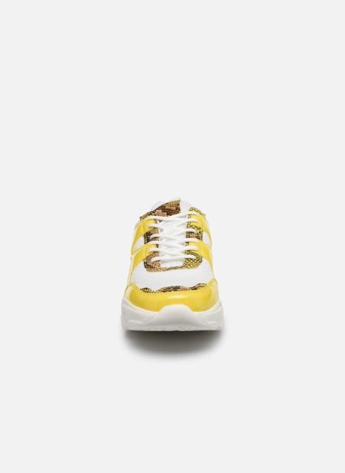 Sneakers Bianco BIACASE Sneaker Giallo modello indossato