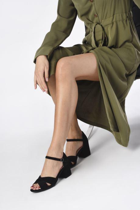Sandales et nu-pieds Bianco BIACATE Suede Cross Sandal Noir vue bas / vue portée sac