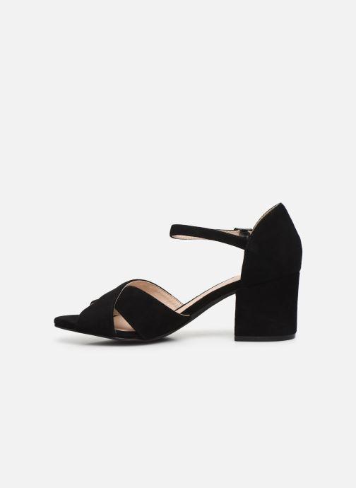Sandales et nu-pieds Bianco BIACATE Suede Cross Sandal Noir vue face