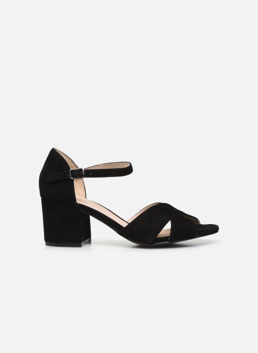 Sandales et nu-pieds Bianco BIACATE Suede Cross Sandal Noir vue derrière