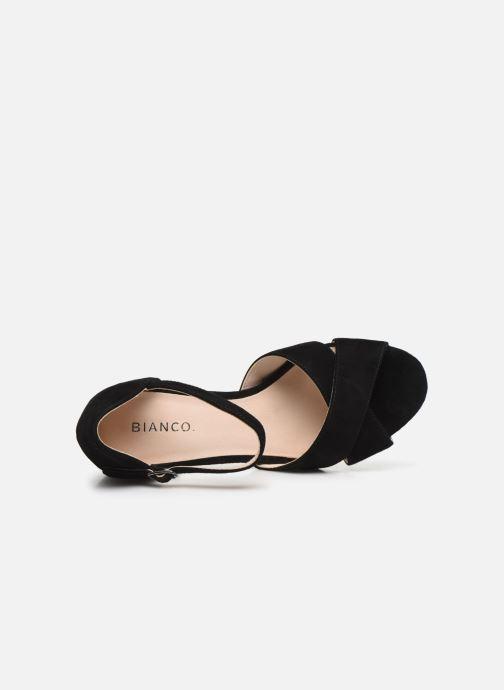 Sandales et nu-pieds Bianco BIACATE Suede Cross Sandal Noir vue gauche
