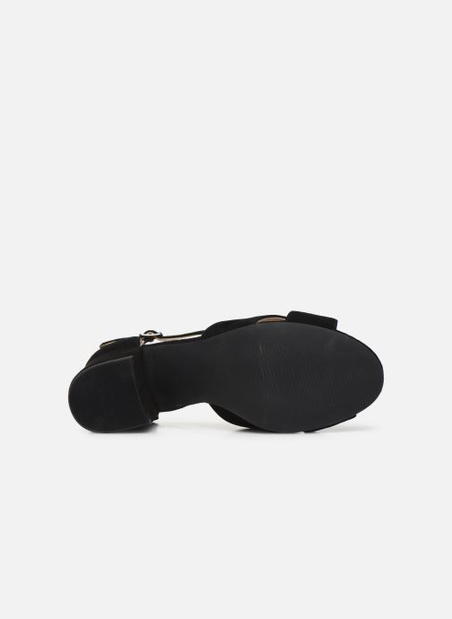 Sandales et nu-pieds Bianco BIACATE Suede Cross Sandal Noir vue haut
