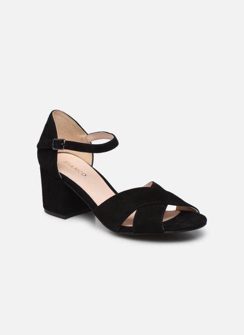 Sandales et nu-pieds Bianco BIACATE Suede Cross Sandal Noir vue détail/paire