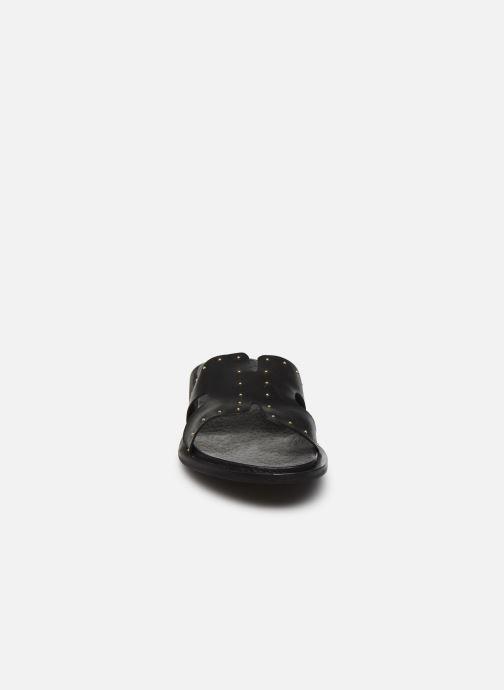 Mules et sabots Bianco BIADARLA Leather Studs Sandal Noir vue portées chaussures