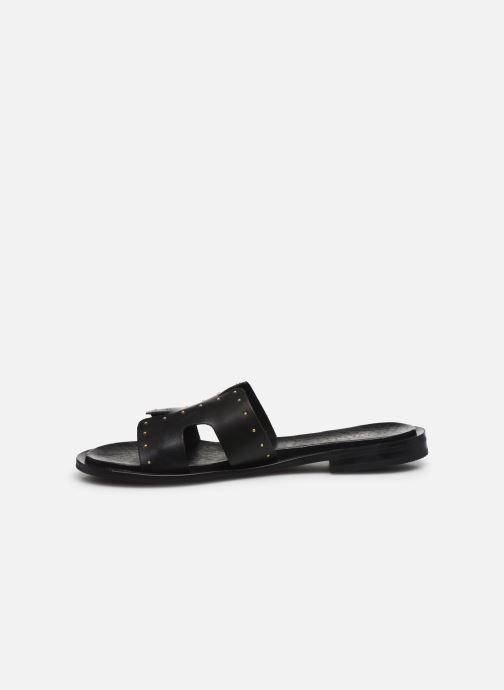 Mules et sabots Bianco BIADARLA Leather Studs Sandal Noir vue face