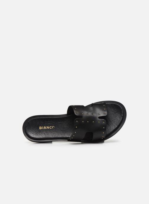 Mules et sabots Bianco BIADARLA Leather Studs Sandal Noir vue gauche