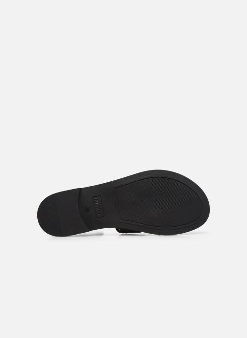 Mules et sabots Bianco BIADARLA Leather Studs Sandal Noir vue haut