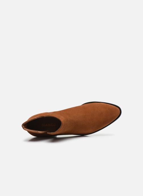 Ankelstøvler Bianco BIADARLEY Suede V-Cut Boot Brun se fra venstre