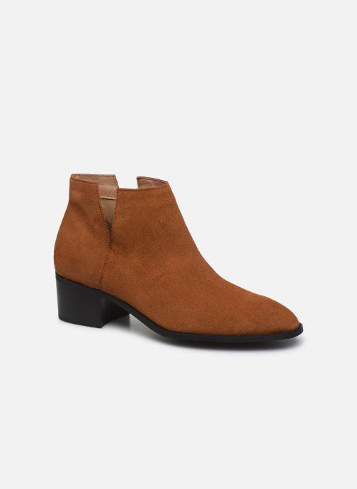 Ankelstøvler Bianco BIADARLEY Suede V-Cut Boot Brun detaljeret billede af skoene