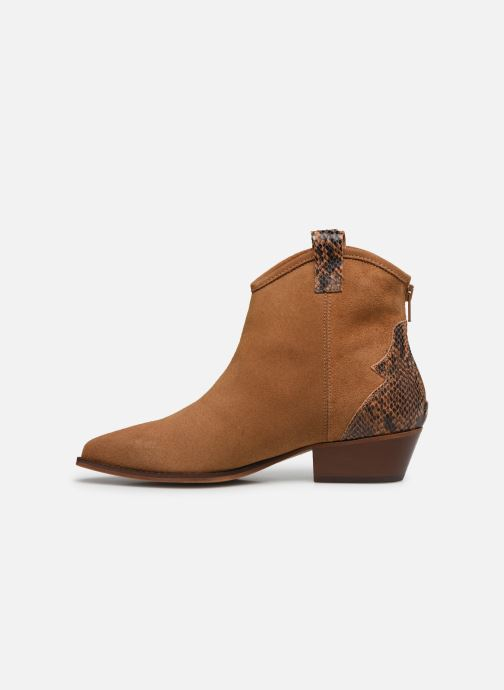Bottines et boots Bianco BIADAYA Western Suede Boot Marron vue face