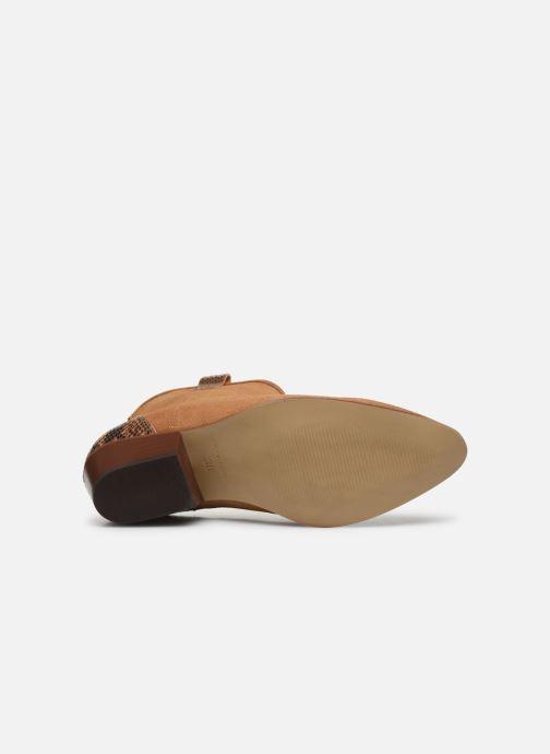 Bottines et boots Bianco BIADAYA Western Suede Boot Marron vue haut