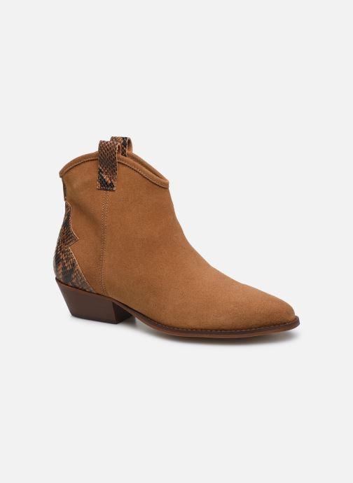Bottines et boots Bianco BIADAYA Western Suede Boot Marron vue détail/paire