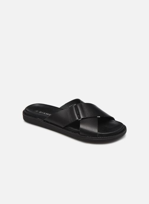 Zuecos Mujer BIADEBBIE Leather Cross Sandal