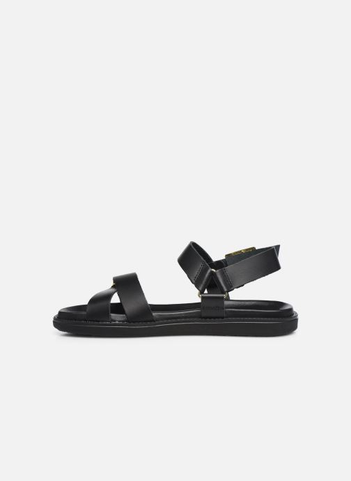 Sandalen Bianco BIADEBBIE Leather Strap Sandal Zwart voorkant