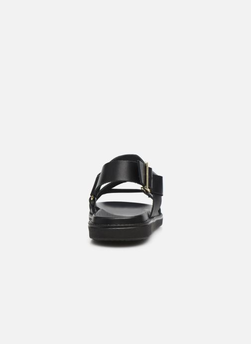Sandalen Bianco BIADEBBIE Leather Strap Sandal Zwart rechts