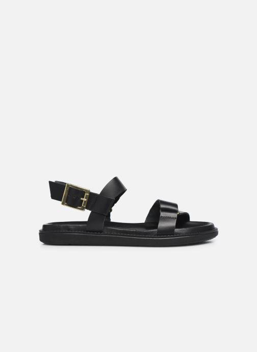 Sandalen Bianco BIADEBBIE Leather Strap Sandal Zwart achterkant