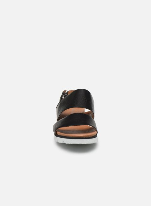 Sandales et nu-pieds Bianco BIADEDRA Leather Sandal Noir vue portées chaussures