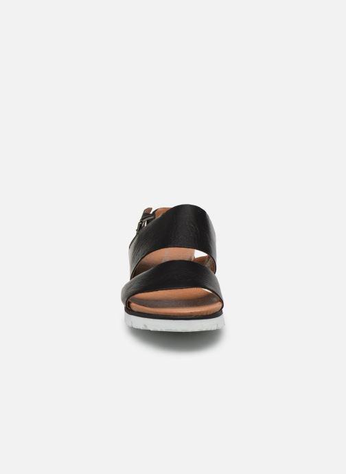 Sandalias Bianco BIADEDRA Leather Sandal Negro vista del modelo