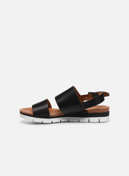 Sandales et nu-pieds Bianco BIADEDRA Leather Sandal Noir vue face