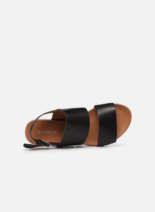 Sandales et nu-pieds Bianco BIADEDRA Leather Sandal Noir vue gauche
