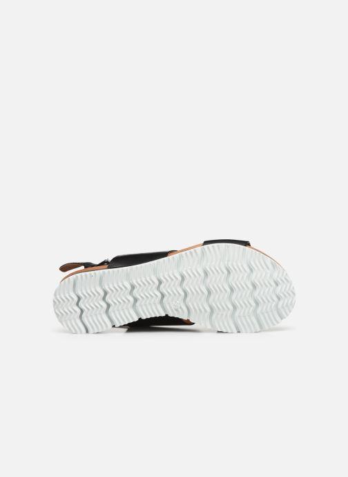 Sandales et nu-pieds Bianco BIADEDRA Leather Sandal Noir vue haut