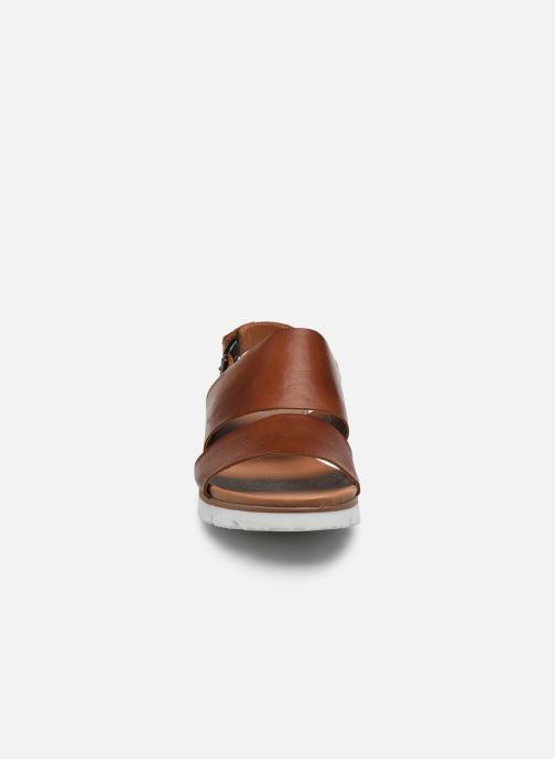 Sandalias Bianco BIADEDRA Leather Sandal Marrón vista del modelo