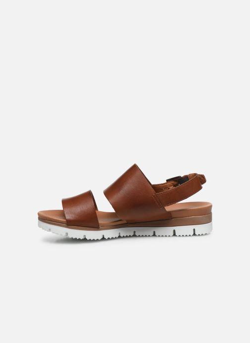Sandalias Bianco BIADEDRA Leather Sandal Marrón vista de frente