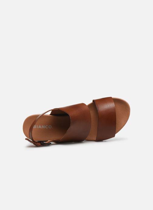 Sandalias Bianco BIADEDRA Leather Sandal Marrón vista lateral izquierda