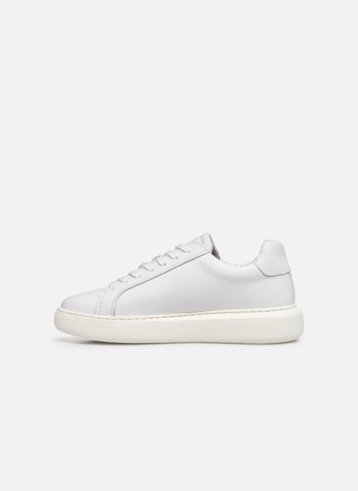 Baskets Bianco BIAKING Clean Leather Sneaker Blanc vue face