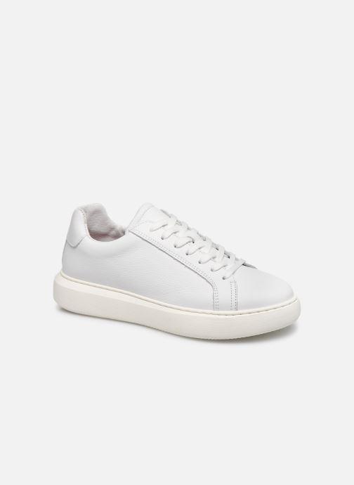Baskets Bianco BIAKING Clean Leather Sneaker Blanc vue détail/paire