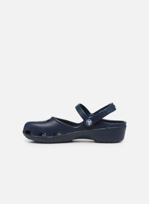 Sandalias Crocs Karin Clog Azul vista de frente