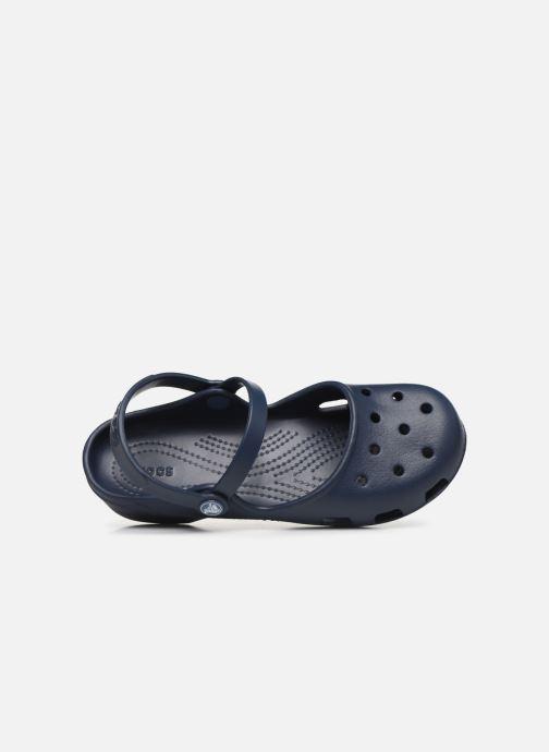 Sandalias Crocs Karin Clog Azul vista lateral izquierda