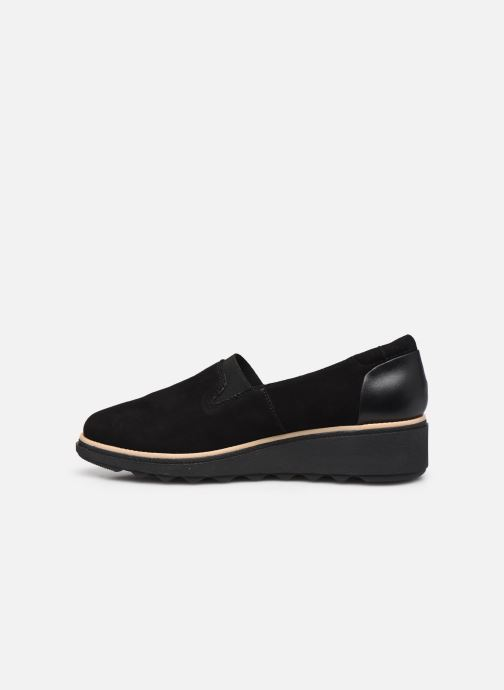 Mocasines Clarks Sharon Dolly Negro vista de frente