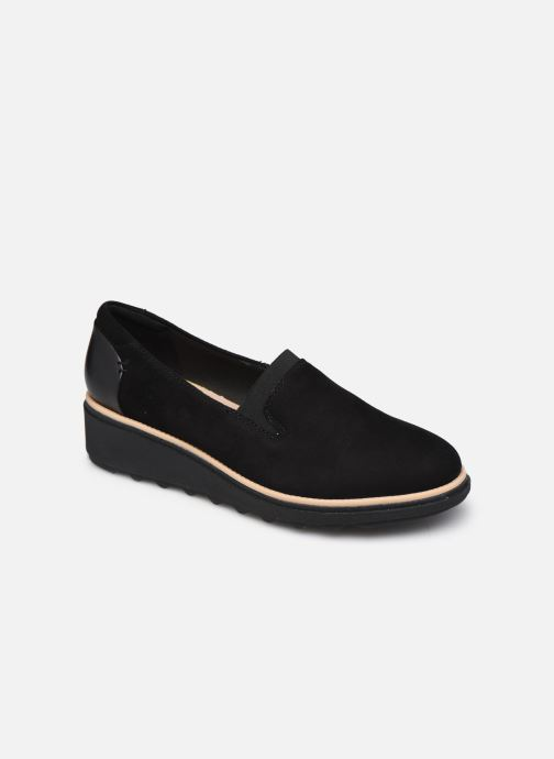 Mocasines Clarks Sharon Dolly Negro vista de detalle / par