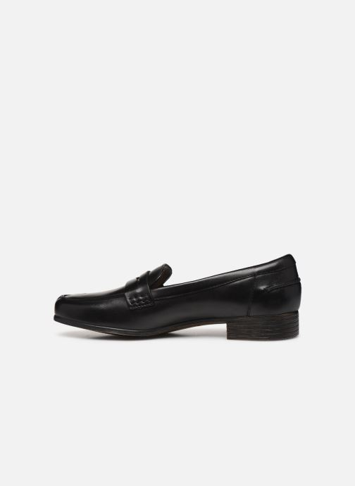 Mocasines Clarks Hamble Loafer Negro vista de frente
