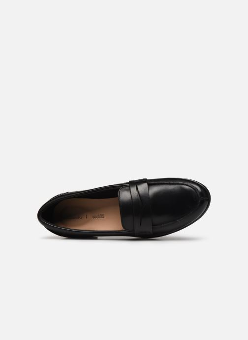 Mocasines Clarks Hamble Loafer Negro vista lateral izquierda