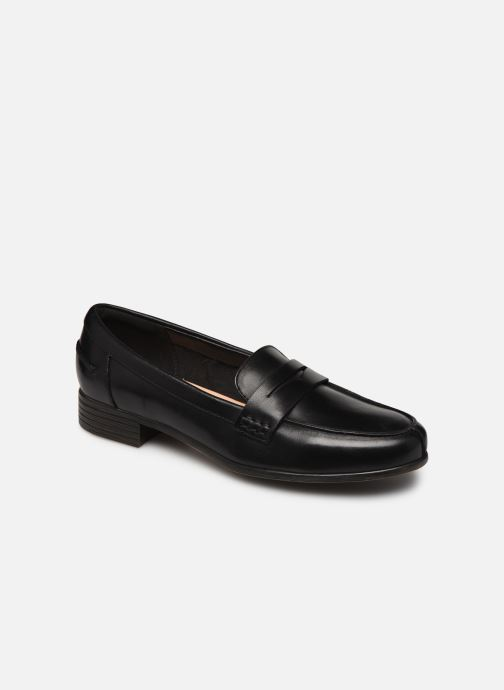 Slipper Clarks Hamble Loafer schwarz detaillierte ansicht/modell