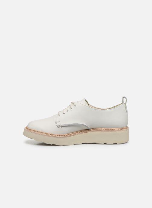 Zapatos con cordones Clarks Trace Walk Blanco vista de frente