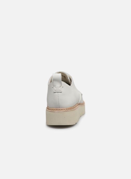 Zapatos con cordones Clarks Trace Walk Blanco vista lateral derecha