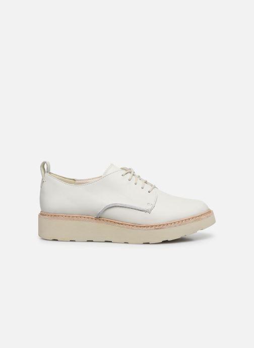 Zapatos con cordones Clarks Trace Walk Blanco vistra trasera