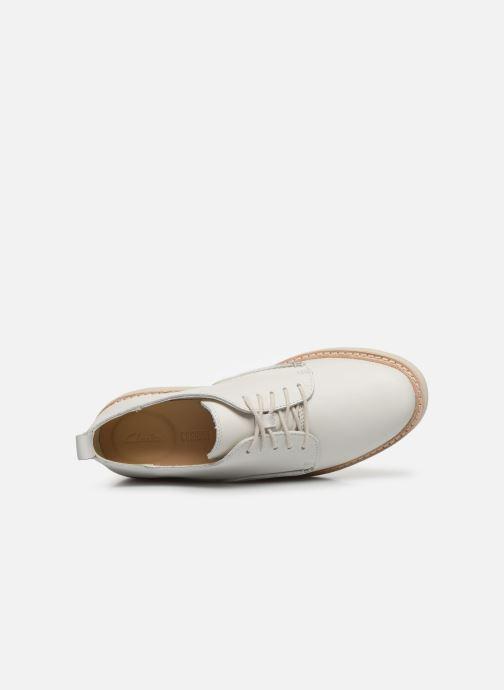 Zapatos con cordones Clarks Trace Walk Blanco vista lateral izquierda