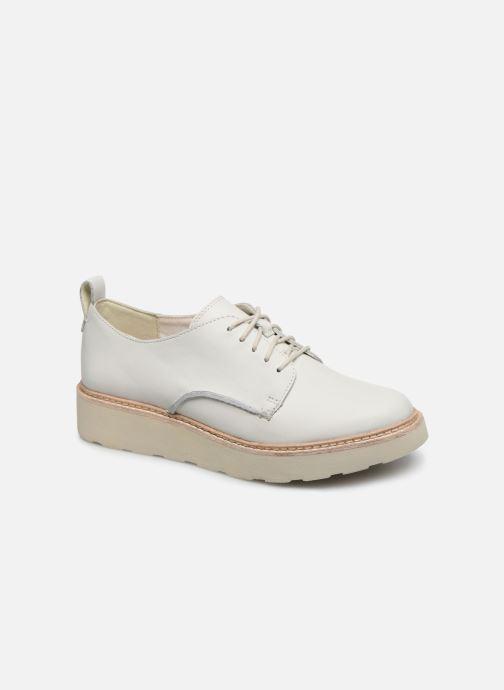 Zapatos con cordones Clarks Trace Walk Blanco vista de detalle / par