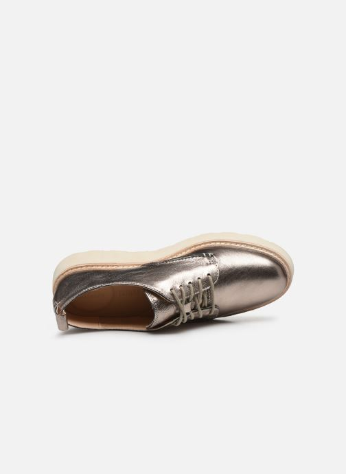 Chaussures à lacets Clarks Trace Walk Argent vue gauche