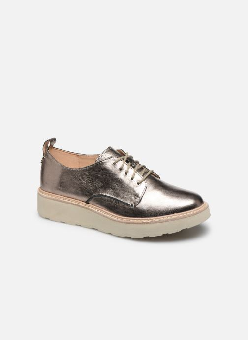 Chaussures à lacets Clarks Trace Walk Argent vue détail/paire